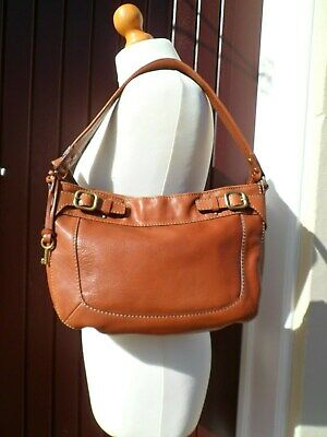 Ladies Fossil Tan Leather Hobo Bag NEW • 40£