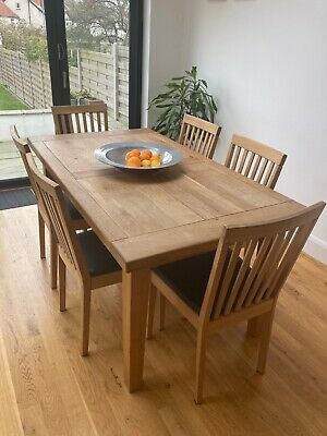 8 X Ikea Oak Dining Chairs, Faux Leather Cover Over Original Dark Grey Material • 15£