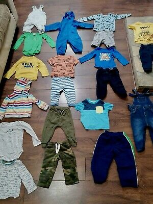 Baby Boys 12-18 Months Clothes Bundle Summer Tops Shorts Joggers Splash-suit • 2£