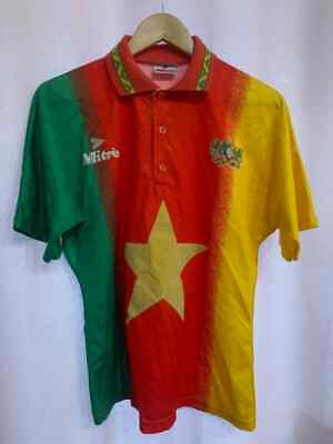 £149.99 • Buy Cameroon National Team 1994 Home Football Shirt Jersey Vintage Size 38/40 Mitre