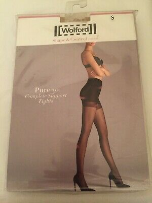 Wolford Pure 30 Complete Support Tights Shape & Control Small Cosmetic  • 25.99£