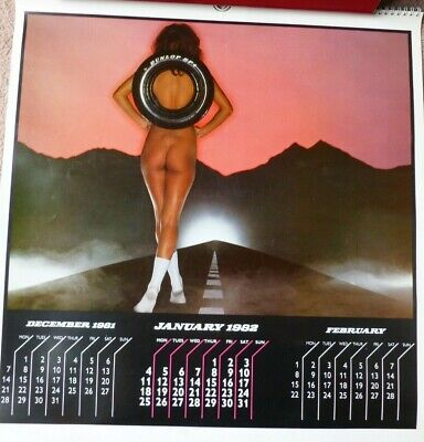 £24.99 • Buy 1982 Vintage Dunlop UK Tyres Glamour Model Calendar Glossy Colour Iconic Rare