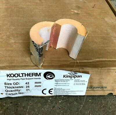 £2 • Buy Kingspan Kooltherm Phenolic Form High Density Pipe Supports Inserts