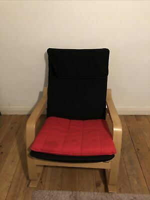 Ikea Poang Armchair/Rocking Chair Red  With Cushion • 25£