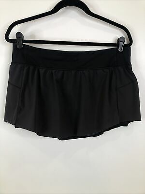 $ CDN25.36 • Buy Lululemon Women's Size 10 Black Raw Hem Skirt Skort Tennis Running