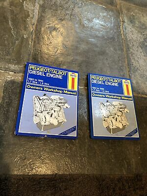 2 X HAYNES  SERVICE AND REPAIR MANUAL PEUGEOT/TALBOT DIESEL ENGINE 1982 No.950 • 11£