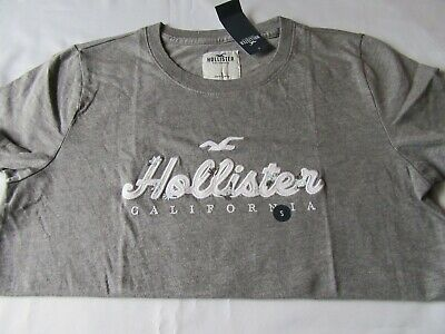 AU5.39 • Buy New With Tags - Hollister Grey T- Shirt - Size Small - Ladies - Mens - Unisex