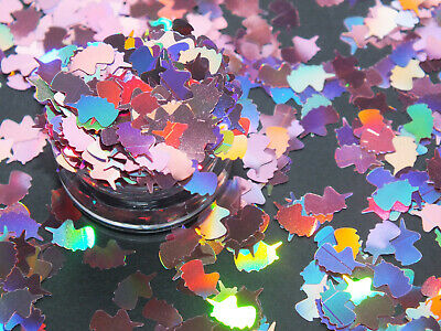 £2.49 • Buy 2g Pink Holographic Unicorn Head Horn Nail Art Sequins Glitter Slime Craft DIY