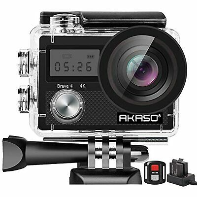 AKASO Brave 4 Action Camera, 4K HD 20MP Wifi Underwater 30m Eis Cam With Remote  • 85.99£