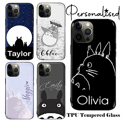 Personalised Totoro TPU Tempered Glass Case For IPhone 6 7 8 X SE 11 12 Pro • 4.99£