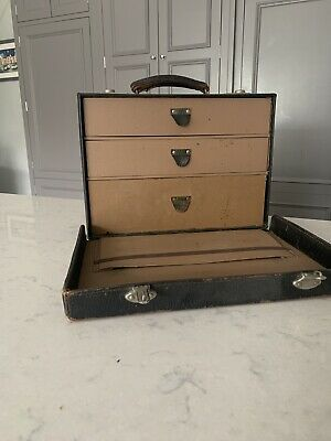 Vintage Ant Leather Doctors Surgeons Case Bag  With Drawers W H Bailey& Sons • 30£