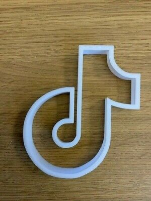 £3.75 • Buy Tik Tok Cookie Cutter Pastry Biscuit Icing Fondant Baking Cake Decoration