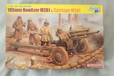 Dragon 1:35 Scale Howitzer Model Kit. US 105mm Howitzer M2A1 With M2A1 Carriage. • 9.99£