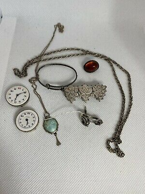 Antique Victorian Silver Sweetheart And Charles Horner Pendant • 98£