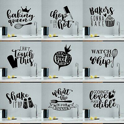 £4.89 • Buy Quote Mural Words Art Vinyl Wall Sticker Home Kitchen Room Decal Decor