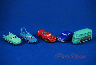 Disney Cars Fillmore Doc Hudson Lightning McQueen King Flo Cake Topper Figure X5 • 0.99£