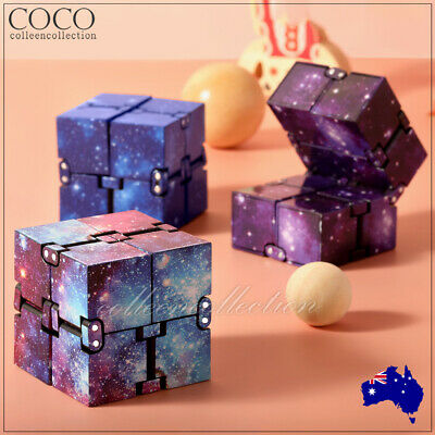 AU7.99 • Buy Infinity Cube Fidget Toys Magic Puzzle Sensory Autism Anxiety ADHD Stress Relief