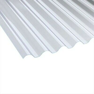 £90.99 • Buy 1.1mm Wider Heavyweight Plastic Corrugated Roofing Sheet 10/3, Cast Iron Profile