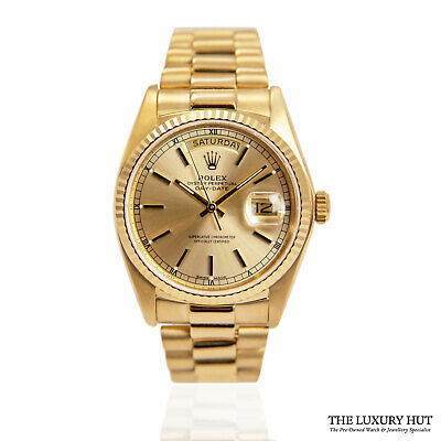£14500 • Buy Rolex Day-date Yellow Gold 36mm Champagne Dial Ref: 18038 – 1979 Rolex Servic...