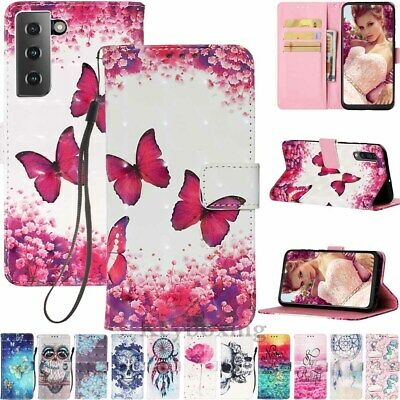 $ CDN10.14 • Buy For Samsung S21 S20 S10 S9 S8 Plus Note 20 Wallet Card Holder Leather Case Cover
