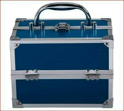 £14.99 • Buy Colour Match Vanity Case With Lagoon Design & Fold Out Compartments