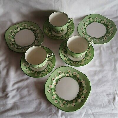 £29 • Buy Crown Staffordshire  13733  - Three Sets  - Tea Cup, Saucer & Side Plate