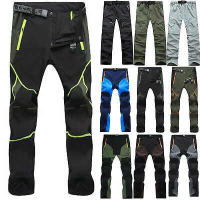 £18.09 • Buy Mens Soft Shell Casual Hiking Trousers Tactical Cargo Work Pants Outdoor Summer