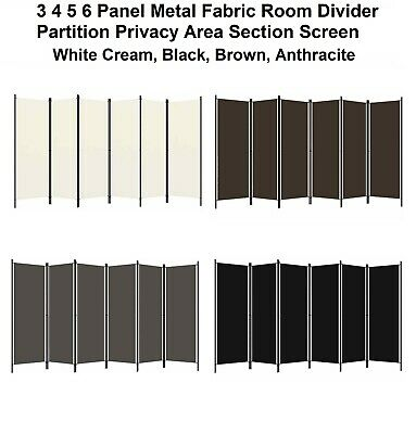 AU54.04 • Buy 3 4 5 6 Panel Metal Fabric Room Divider Partition Privacy Area Section Screen
