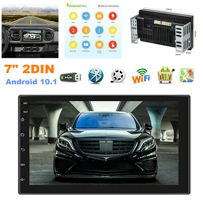 $167.99 • Buy 7  2DIN Android 10.1 Car Radio MP5 Player GPS Navigation WIFI With 12 LED Camera