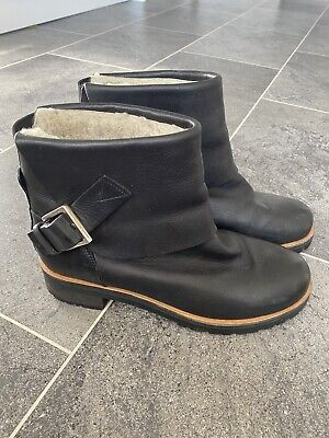 £140 • Buy Chloe Black Chelsea Leather Ankle Boots Sheepskin Lining 39 UK 6 SOLD OUT