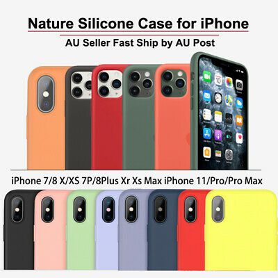 AU5.65 • Buy APPLE IPhone 11 Pro Max X XS MAX XR 7 8 Plus SE 2nd Nature Silicone Case Skin