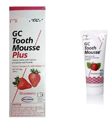 AU25.99 • Buy GC Tooth Mousse Plus ( Strawberry Flavor ) (40 Gm) + Fast Ship Best D !