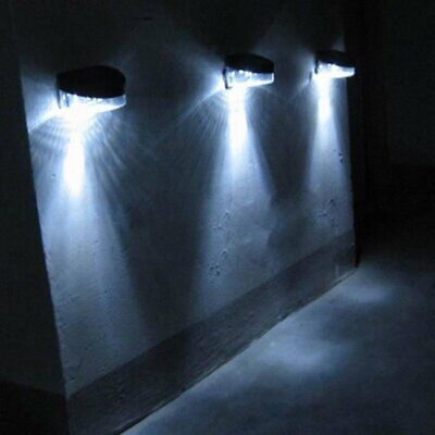 £14.99 • Buy 6 X GARDEN SOLAR POWERED BRIGHT LED WALL DOOR FENCE SHED LIGHTS LIGHTING WHITE