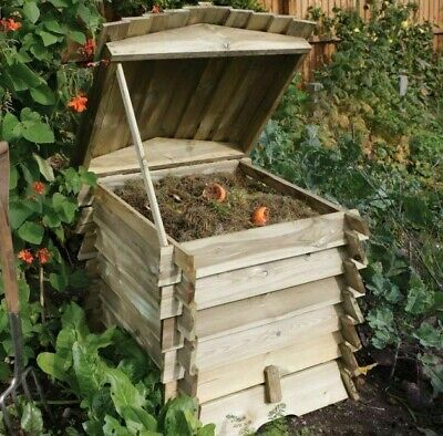 £159.94 • Buy Beehive Composter Wooden Garden Recycling Kitchen Waste Organic Composting 211l