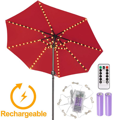 AU46.33 • Buy Rechargeable Patio Umbrella Lights Outdoor, 8 Modes, Timer, For Camping, Tents