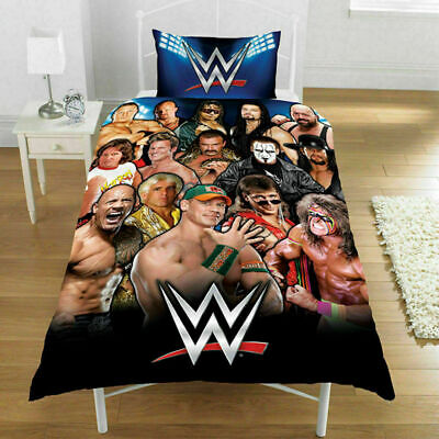 £23.99 • Buy Reversible Luxury WWE  Printed Single Duvet Cover Bedding Sets With Pillowcase