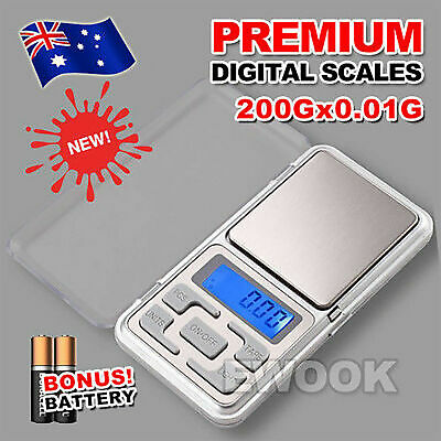 AU7.95 • Buy Pocket Mini Digital Kitchen Scales Jewellery Electronic Herbs - 0.01g To 200g