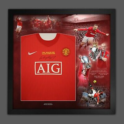 £199 • Buy WAYNE ROONEY SIGNED AND DELUXE FRAMED  MANCHESTER UNITED SHIRT With Coa £199