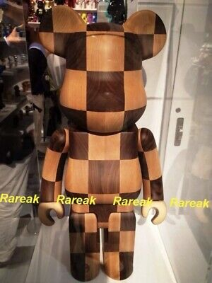 $23999.99 • Buy Medicom Be@rbrick 2016 Karimoku Wooden 1000% Chess Wood Bearbrick 1pc