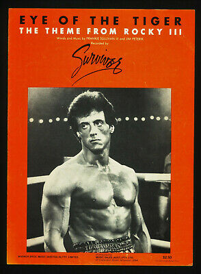 £7.94 • Buy 1982 ~Theme From The Movie ROCKY III ~Eye Of The Tiger ~Australian Sheet Music