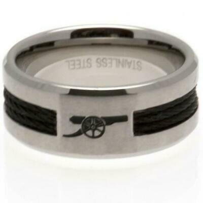 £20 • Buy Arsenal FC Stainless Steel Black Inlay Ring Size U