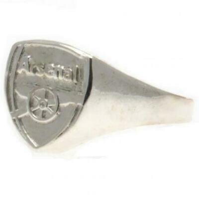 £10 • Buy Arsenal FC Silver Plated Crest Ring Medium