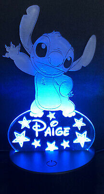 £16.99 • Buy Personalised Disney Stitch Night Light With L.E.D Base