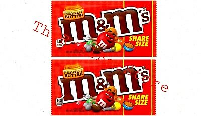 $12 • Buy (2) M&M's Peanut Butter Share Size Chocolate Candies 2.83oz