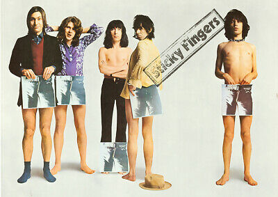 £8.95 • Buy ROLLING STONES - Sticky Fingers (1971) Promo - Music Concert Poster Art Print