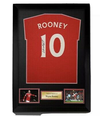 £110 • Buy Wayne Rooney Signed And Numbered Red T-shirt Framed Ready To Hang Superb £110