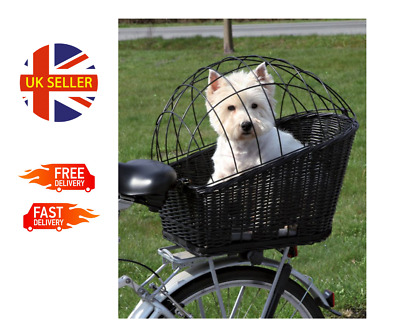 £45.99 • Buy Rear Mounted Bicycle Rack Travel Cycling Basket Dog Cat Bike Carrier Wicker NEW!