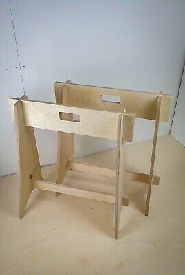 AU139.80 • Buy 2 X Wooden Birch Ply Trestle Stands / Saw Horse / Table