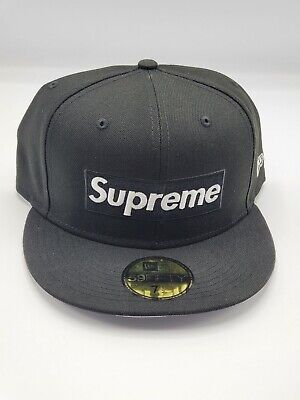 $ CDN125.52 • Buy Supreme Champions Box Logo New Era Black 7 1/2 Fitted Hat SS21 **NEW IN HAND**