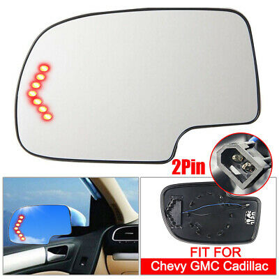 $18.78 • Buy Mirror Glass Heated Turn Signal Driver Side LH For 2003-2007 Chevy GMC Cadillac
